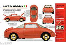 1957 Fiat ABARTH GOCCIA auto SPEC SHEET / Brochure / Catalog, Abarth