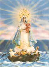 Virgin Mary Lenticular Postcard 3D Madonna Sailor's Rescue