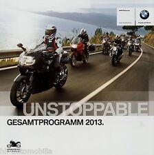 BMW Motorrad Prospekt 2013 C 650 GT F800GS G650GS K1600GT S1000RR HP4 F800R moto