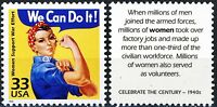 We Can Do It! Rosie the Riveter World War 2 Poster Stamp MNH Scott's 3186E