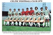 CELTIC F.C.TEAM PRINT 1975 (DALGLISH/LENNOX/DEANS/RITCHIE)