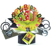30th Birthday Pop-Up Greeting Card Original Second Nature 3D Pop Up Cards