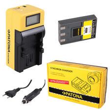 Batteria Patona + caricabatteria Synchron LCD USB per Canon NB-1L,NB-1LH