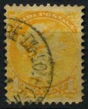 Canada 1870-90, 1c GIALLO QV USATO TIMBRO POSTALE #d45022