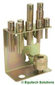 Sealey  YKPP8 8 Piece Pressing Pin Set for Floor Press 2-20 Ton YK20F YK30F