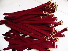 Lot 100 Bracelet Montre Watch Bands Nylon Tressé Style Nato 8 mm Bordeaux  22 cm