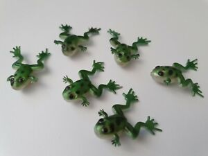 6 x small fat soft frog fishing lures