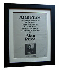 ALAN PRICE+Animals+POSTER+AD+QUALITY FRAMED+RARE ORIGINAL 1977+FAST GLOBAL SHIP