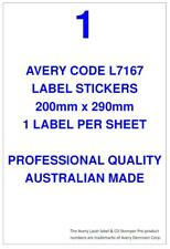 AVERY CODE L7167 LABEL STICKERS 1 PER SHEET X 100 SHEETS SHIPPING POST MAIL
