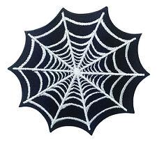 Spider Web Net Black Halloween Tattoo Punk Retro Biker Embroidered Iron On Patch