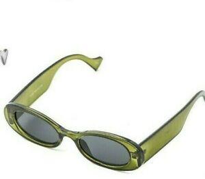 Men Women Unisex Narrow Oval Lens Acetate Fashion Sunglasses