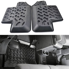 Black Rubber Rear Row Floor Mats Liner Carpets for 07-17 Jeep Wrangler JK 2-Door