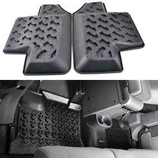 2x Black Rubber Rear Row Floor Mats Liner Carpets for Jeep Wrangler JK 2Door 07+