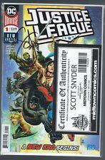 DC COMICS JUSTICE LEAGUE #1 SIGNED BY SCOTT SNYDER MIDTOWN COA