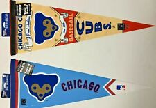 CHICAGO CUBS PENNANTS (x2) COOPERSTOWN COLLECTION