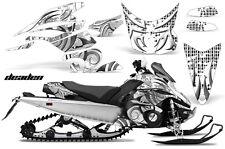 AMR Racing Sled Wrap Yamaha FX Nytro Snowmobile Graphics Kit 08-14 DEADEN WHITE