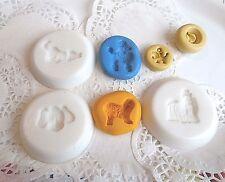 Lot 7 Moules silicone CHIEN DOG pour Fimo porcelaine Création Bijou scrapbooking