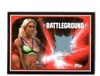 WWE Charlotte 2016 Topps RTWM Event Used Battleground Mat Relic Card SN 70 / 199