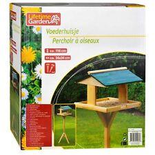 Mangiatoia Casetta per uccelli volatili in legno 115x34x34 cm Lifetime Garden