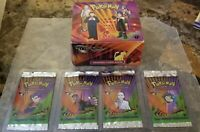 Pokemon Gym Challenge 1st edition Booster Box Empty Display & 4 Wrappers