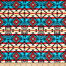 Old Southwest Native Spirit Dreamcatcher Tribal Sewing Quilting Fabric FQ Cream