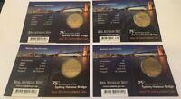 2007 Australian $1 Sydney Harbour Bridge set of 4 coins Mintmark Set C,B,M,S
