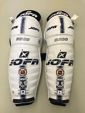 "Jofa 5500 NHL Pro Stock Ice Hockey Player Shin Pads Guards 14"" AHL ECHL"