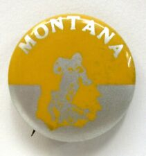 """1940's to 1950's MONTANA illustrated football large size 1.5"""" pinback button ^"""