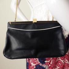 FAIGEN AUSTRALIA Vintage Blue and White Leather Handbag Bag Purse Rare