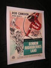 Original Release 1954 WAGONS WEST Linenbacked Danish O/S ROD CAMERON Wenzel Art