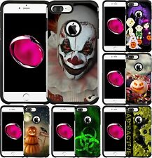 For iPhone 5 SE 6 6S 7 8 PLUS Slim Hybrid Case Phone Cover Scary Clown Halloween