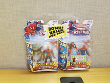 Ultimate Spider-Man Value Web Pack, Web Wingsuit and Crossbow Chaos figures, New