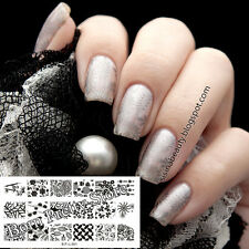 Flower Leave Nail Art Stamp Template Image Plate BORN PRETTY L001 12.5 x 6.5cm