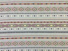 Navajo stripe double largeur moutarde noire H9 aztèque rideau ameublement tissu
