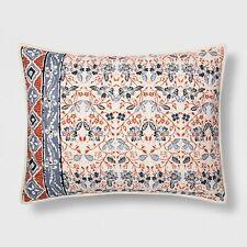 Threshold Floral Stripe Standard Pillow Sham New