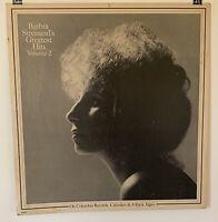 Barbra Streisand's Greatest Hits Vol 2 Cardboard 2 Sided Promo Poster Display