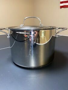 CUISINART 766-24 8 Quart Stainless Steel Stockpot w/ Lid Cover V#16420