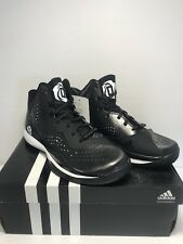 590b87e869f adidas Mens Size 5 D Rose 773 III Black White Basketball Training Shoes