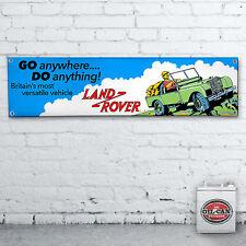 Land Rover BANDERA – 1700 x 430mm TALLER, habitación Hombre Retro Vintage