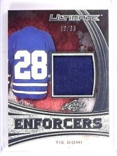 2015-16 Leaf Ultimate Hockey Tie Domi Enforcers Jersey #D16/35 #UE09 *54323