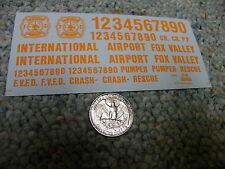 Herald King decals HO International Airport Fox Valley orange   ZZ364