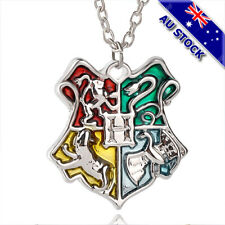 925 Silver Plated Harry Potter Hogwarts Badge Pendant Silver Chain Necklace Gift