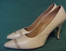 Nos Vintage Richard Cabot Tan Taupe Stiletto Heel Shoes 7 1/2 Aaaa
