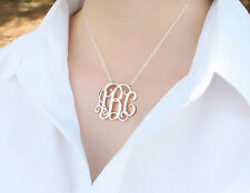 Personalized Monogram Necklace Sterling Silver Any Name Necklace Birthday Gift