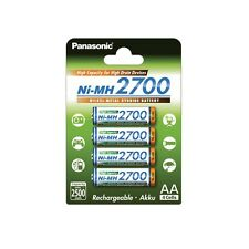Batterie AA panasonic 2700mah High Capacity 4x Batterie Chargeable