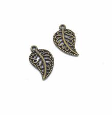 Wholesale 20pcs Tibet silver Tree leaf Charm Pendant beads Jewelry Making DIY !!