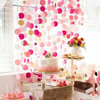 Glitter Paper Birthday Party Banner Flag Baby Shower Party Decor Hanging Bunting