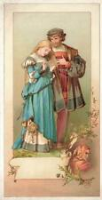 Victorian  COURTING COUPLE + DEVIL  Greeting  Card
