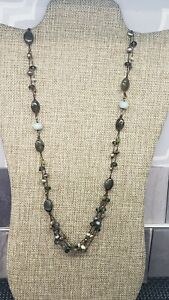 SILPADA SIGNED STERLING SILVER LONG BEADED NECKLACE