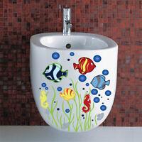 DIY Fishes Aquatic Mural Wall Sticker Decals Toilet Room Home Decor Vinyl Art JR